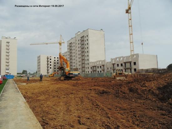 Фотография этапа строительства дома