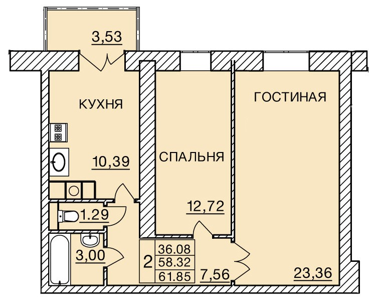 Киевское шоссе, д. 60, кв.364
