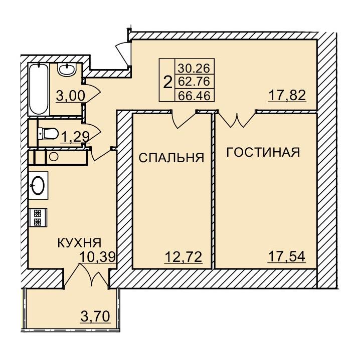 Киевское шоссе, д. 60, кв.1126