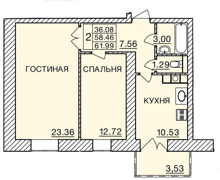 Киевское шоссе, д. 60, кв.394
