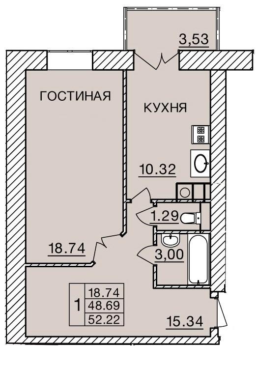 Киевское шоссе, д. 60, кв.406