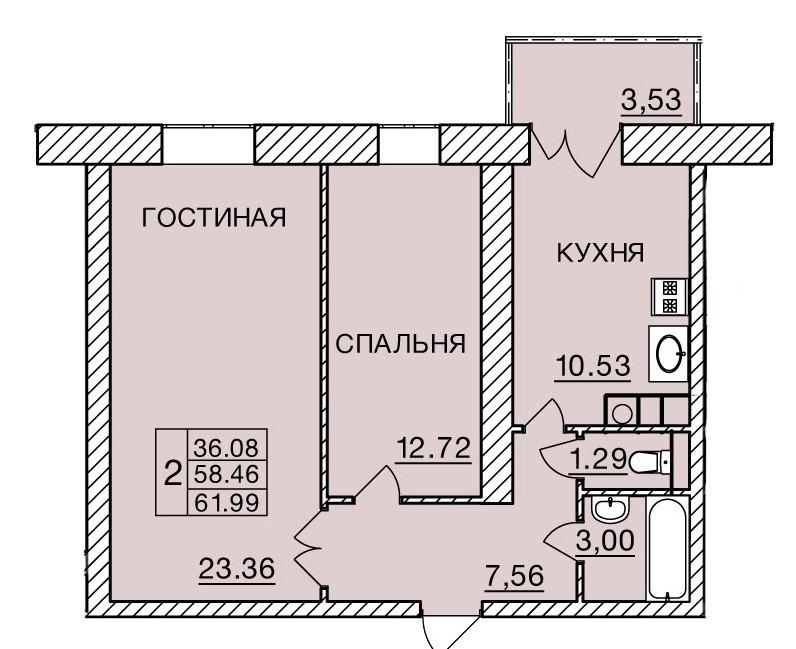 Киевское шоссе, д. 60, кв.442