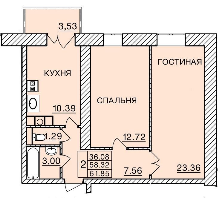 Киевское шоссе, д. 60, кв.454