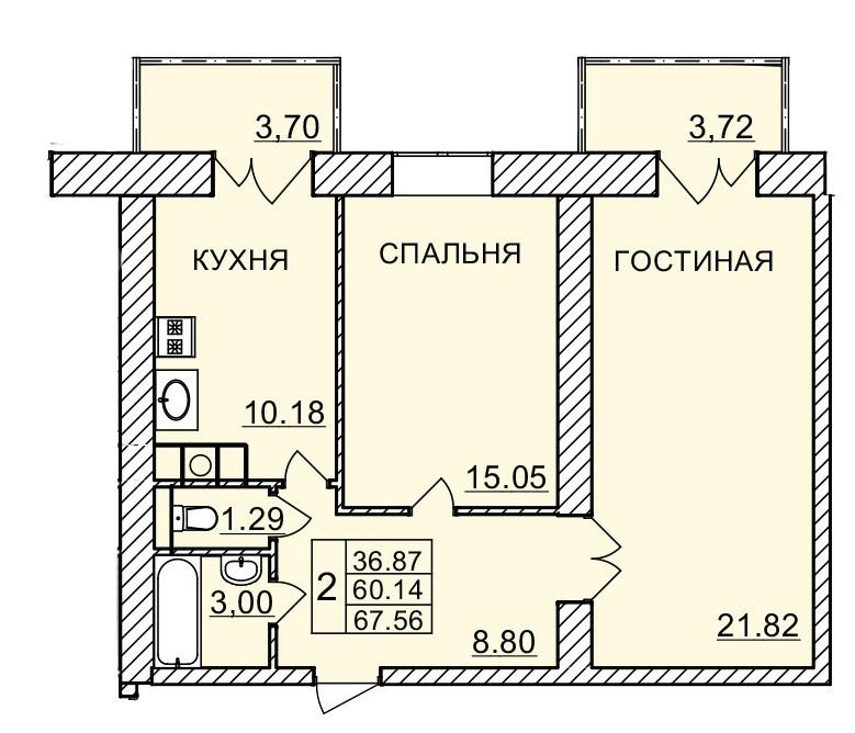 Киевское шоссе, д. 60, кв.1141