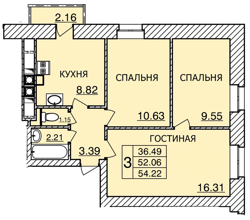 Киевское шоссе, д. 55, кв.492
