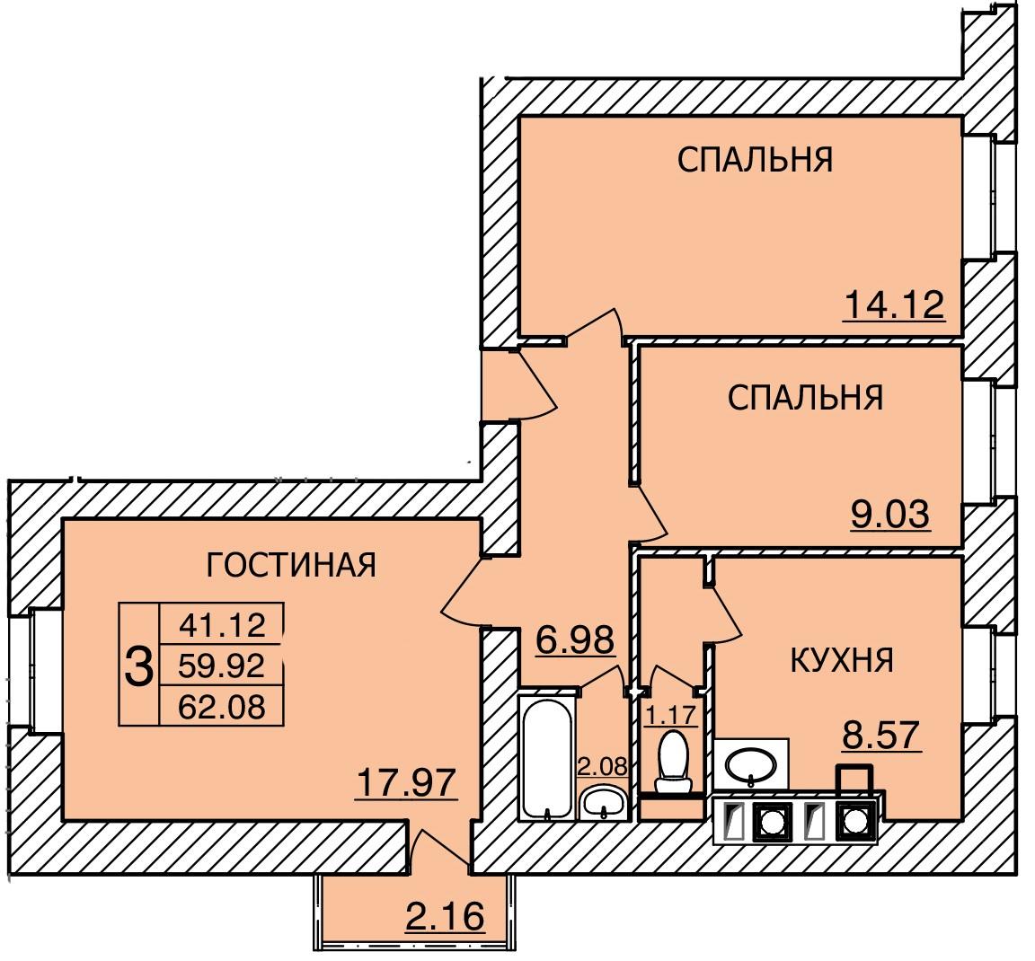 Киевское шоссе, д. 55, кв.493