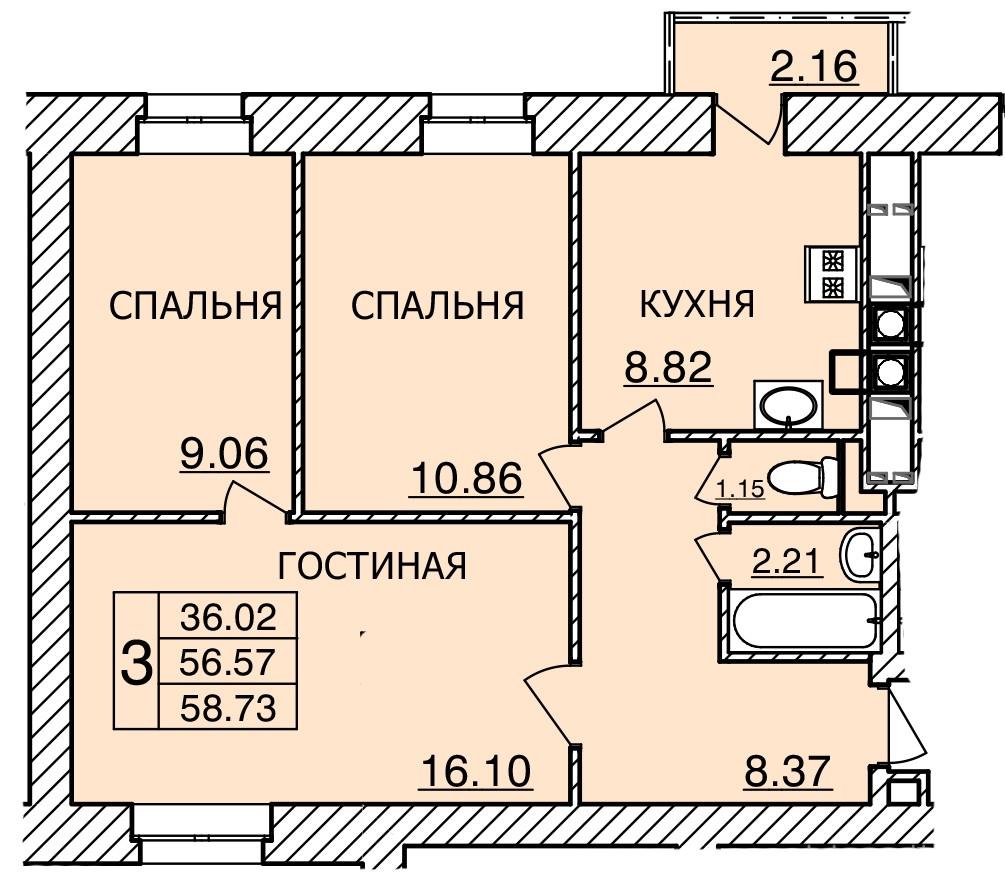 Киевское шоссе, д. 55, кв.482