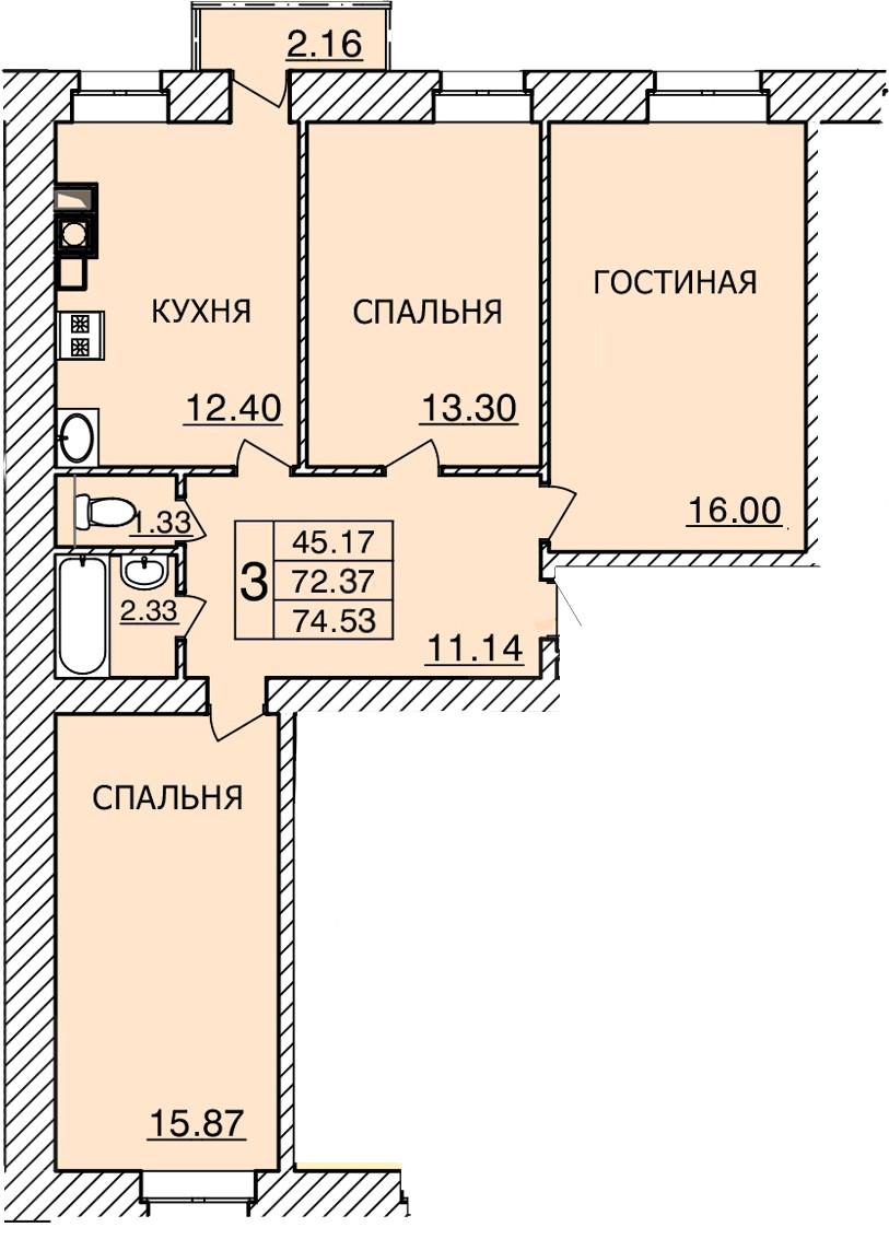 Киевское шоссе, д. 55, кв.474