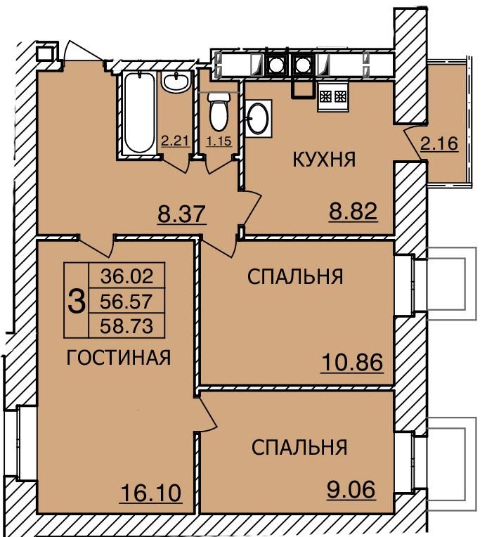 Киевское шоссе, д. 55, кв.429