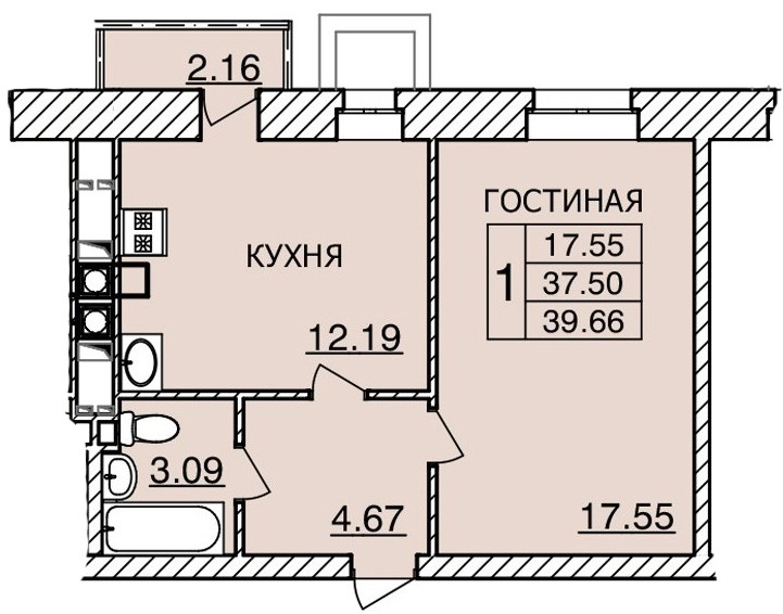 Киевское шоссе, д. 55, кв.24