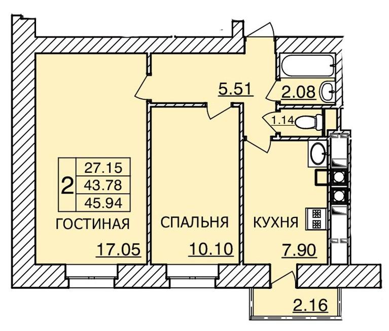 Киевское шоссе, д. 55, кв.38