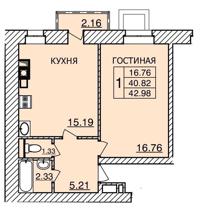 Киевское шоссе, д. 55, кв.351