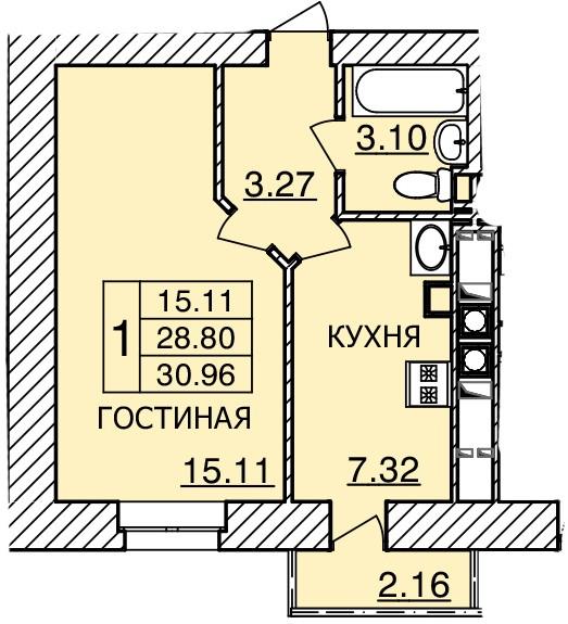 Киевское шоссе, д. 55, кв.300