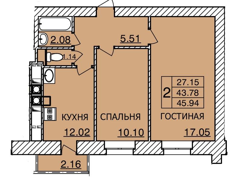 Киевское шоссе, д. 55, кв.110