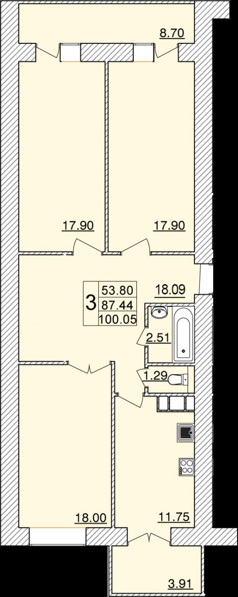 Колхозный переулок, д. 15г, кв.11
