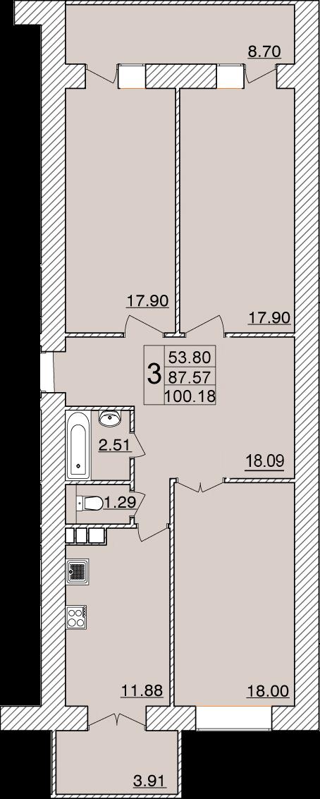 Колхозный переулок, д. 15г, кв.110
