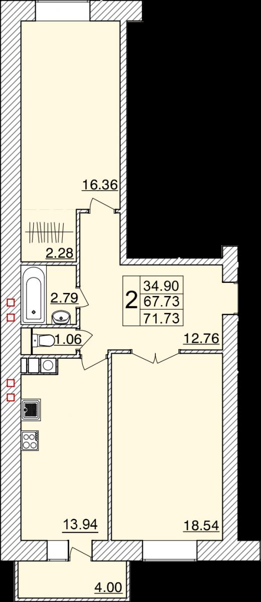 3-я линия Красноармейской слободы, кв.2