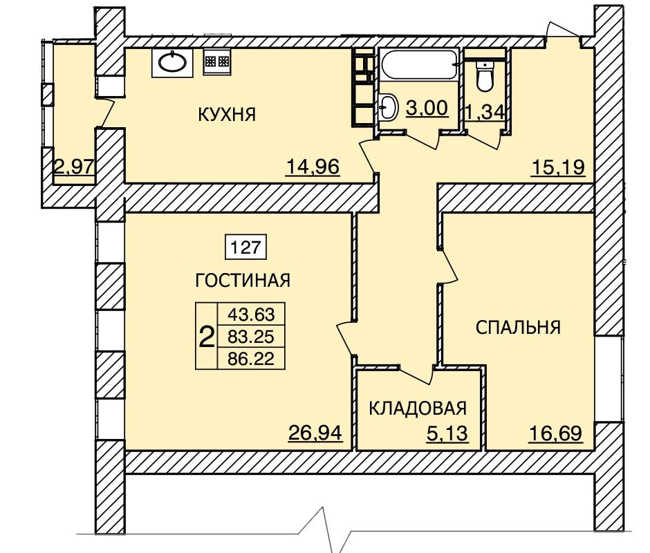 Киевское шоссе, д. 56, кв.127