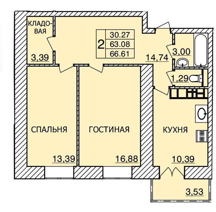 Киевское шоссе, д. 56, кв.237