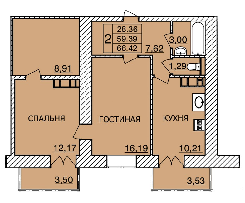 Киевское шоссе, д. 56, кв.464