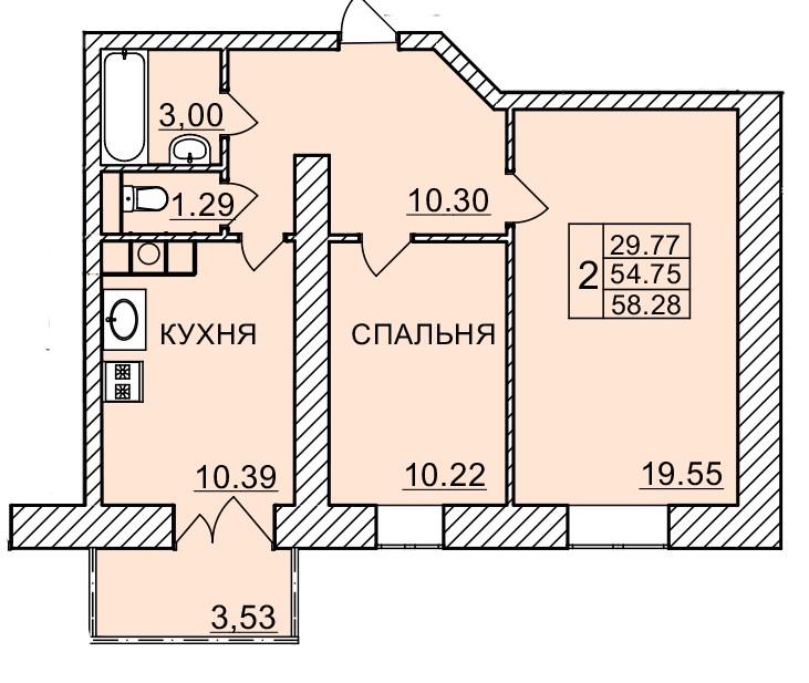 Киевское шоссе, д. 58, кв.494