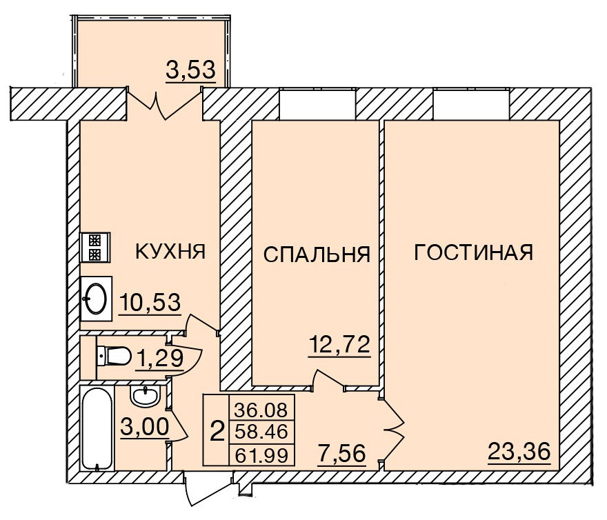 Киевское шоссе, д. 58, кв.48