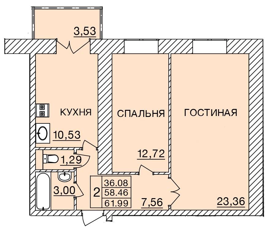 Киевское шоссе, д. 58, кв.59