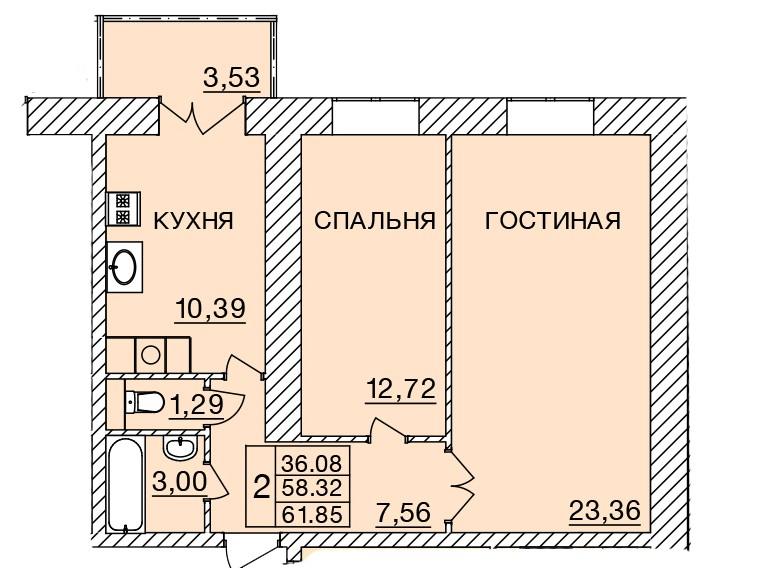 Киевское шоссе, д. 58, кв.92