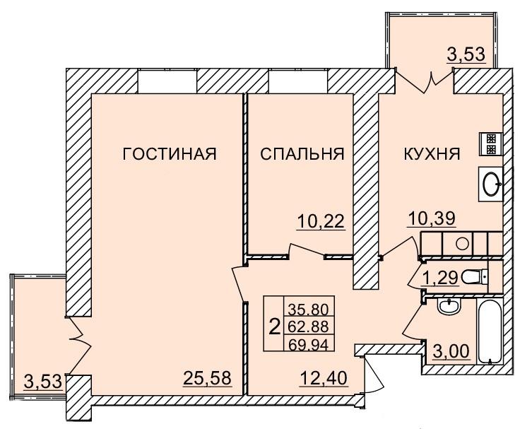 Киевское шоссе, д. 58, кв.1103