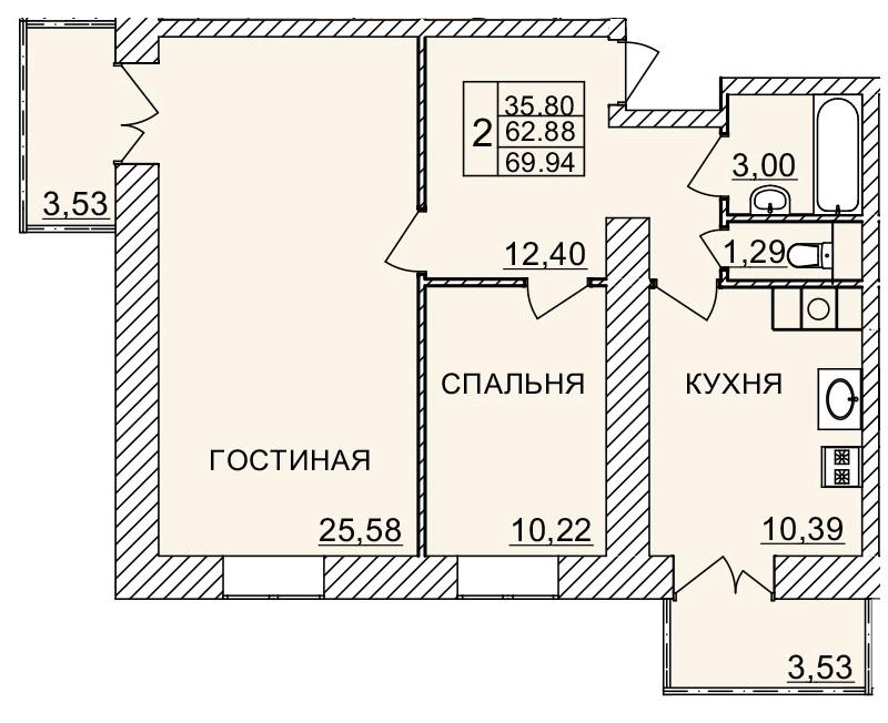 Киевское шоссе, д. 58, кв.97