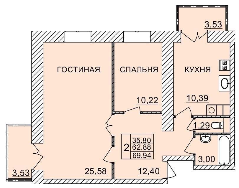 Киевское шоссе, д. 58, кв.98