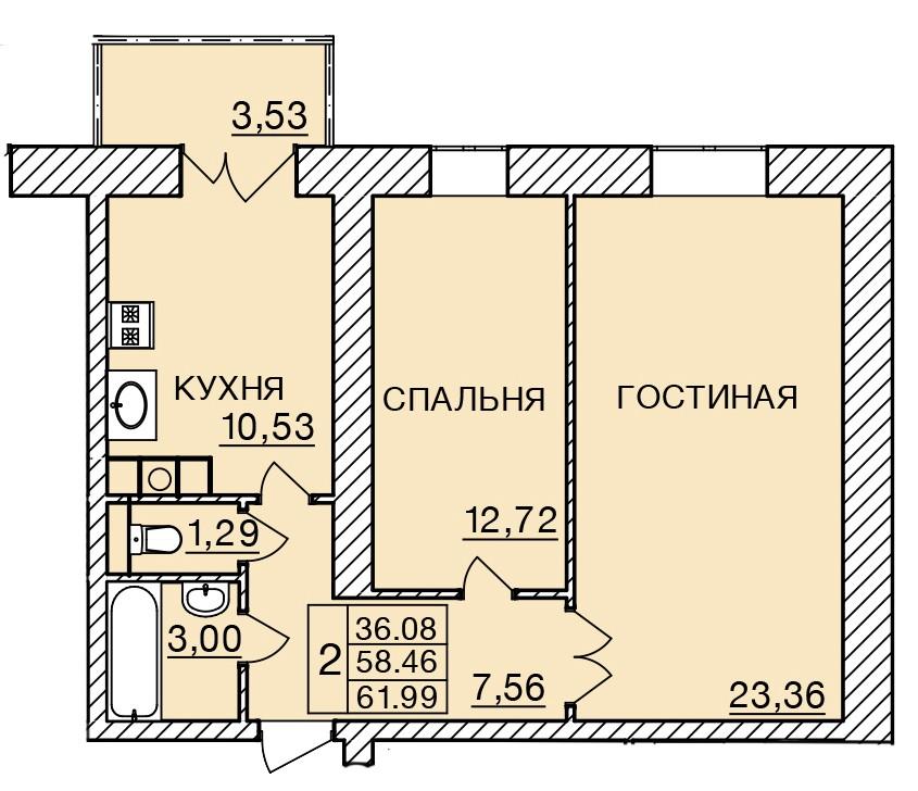 Киевское шоссе, д. 58, кв.168