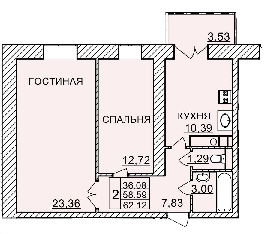 Киевское шоссе, д. 58, кв.1112