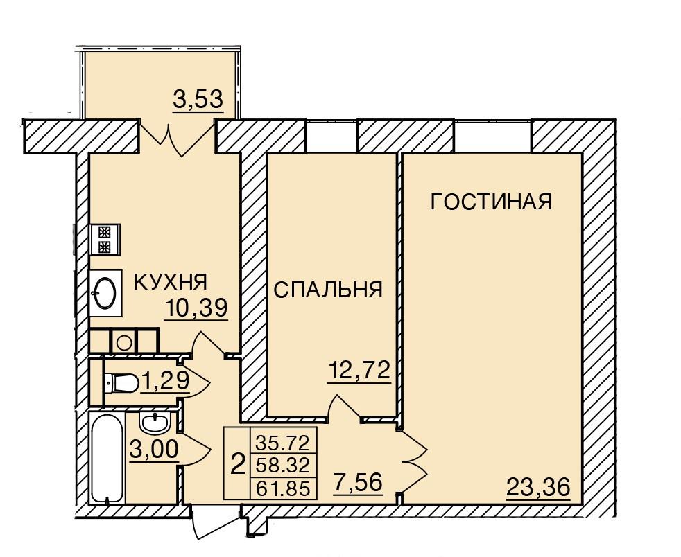 Киевское шоссе, д. 58, кв.176