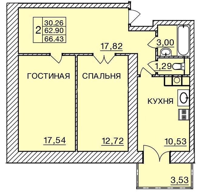 Киевское шоссе, д. 58, кв.218