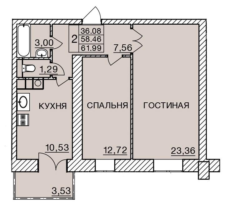 Киевское шоссе, д. 58, кв.227