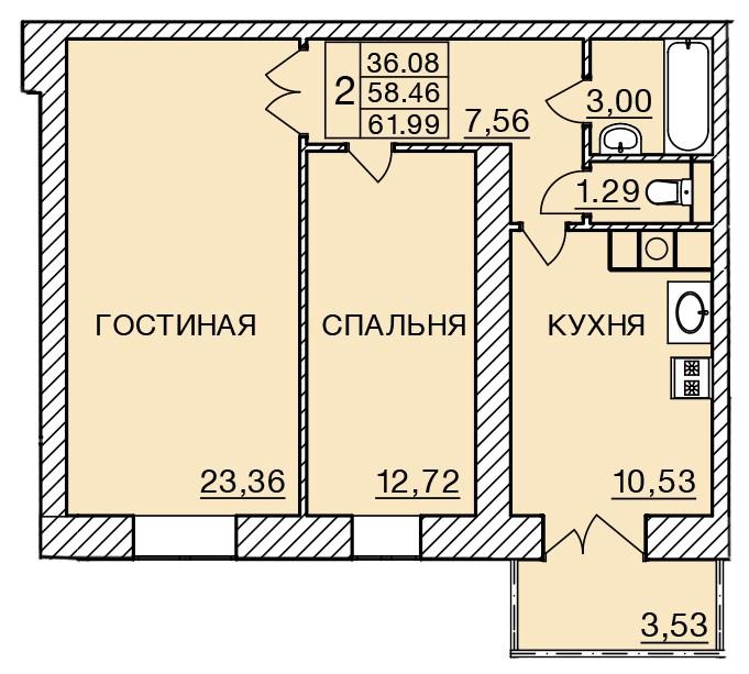 Киевское шоссе, д. 58, кв.236