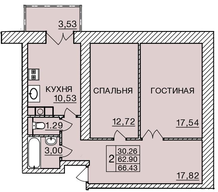 Киевское шоссе, д. 58, кв.264