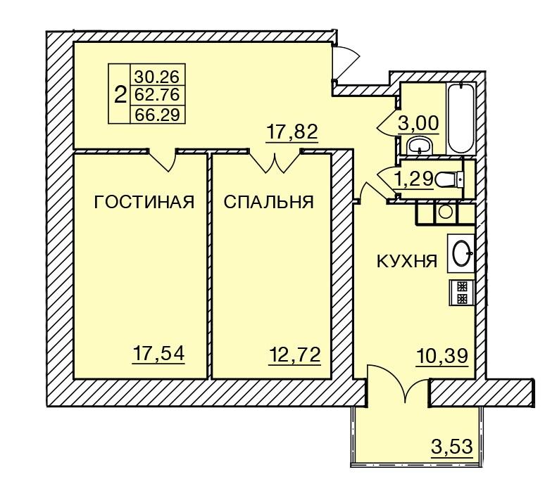 Киевское шоссе, д. 58, кв.278