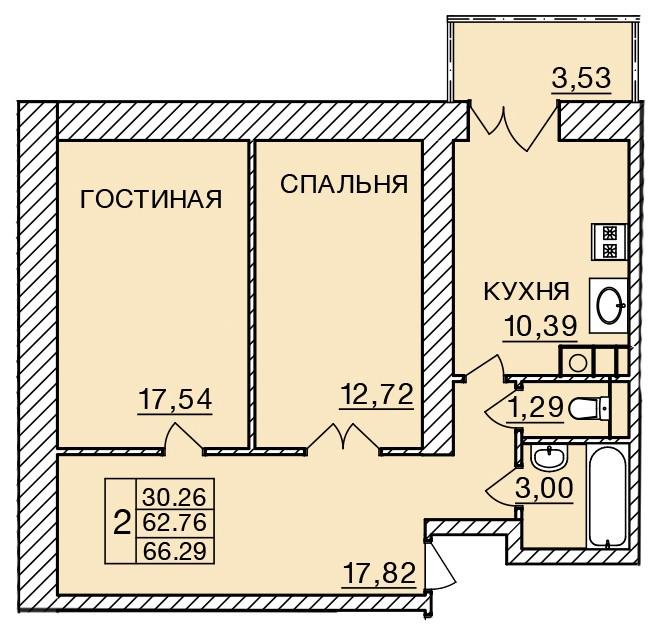 Киевское шоссе, д. 58, кв.279
