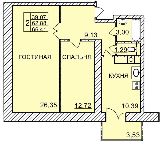 Киевское шоссе, д. 58, кв.1118