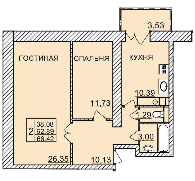 Киевское шоссе, д. 58, кв.1119
