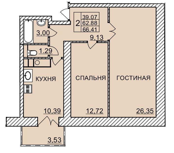 Киевское шоссе, д. 58, кв.1124