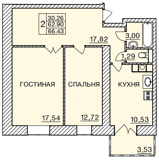 Киевское шоссе, д. 58, кв.288
