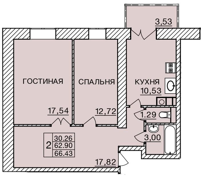 Киевское шоссе, д. 58, кв.289