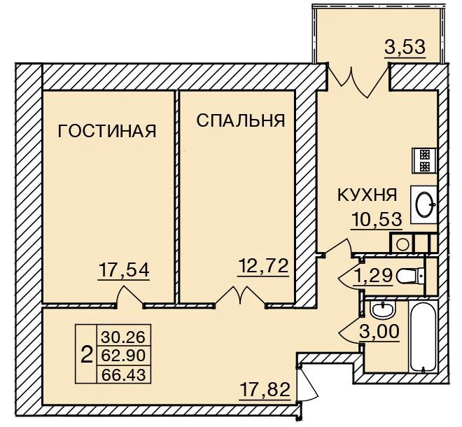 Киевское шоссе, д. 58, кв.348
