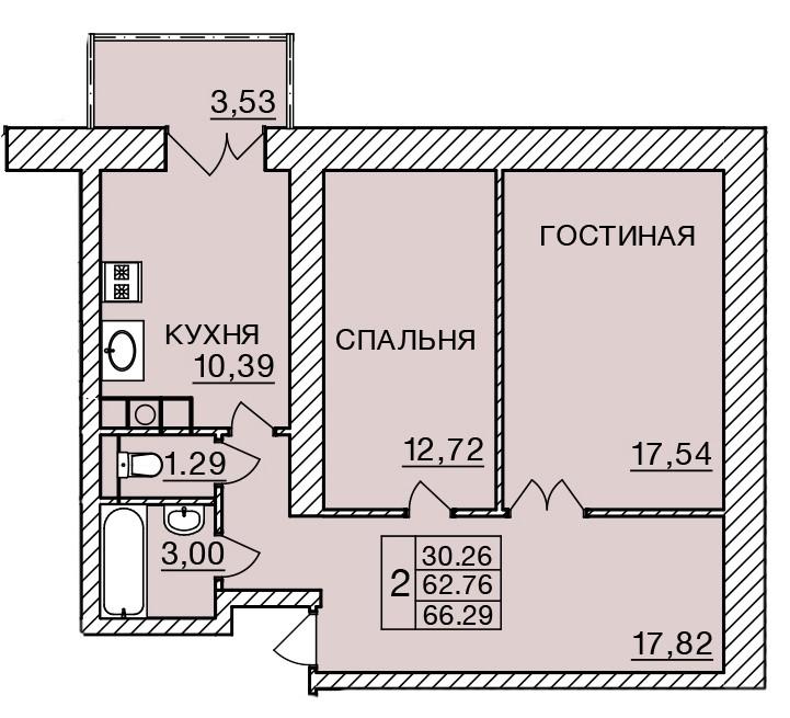 Киевское шоссе, д. 58, кв.383