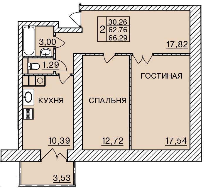 Киевское шоссе, д. 58, кв.384