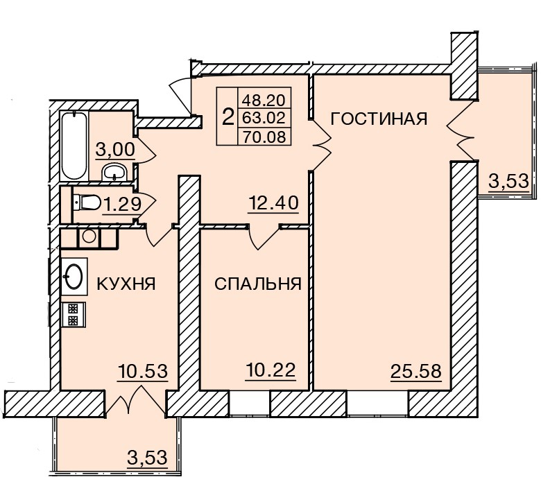 Киевское шоссе, д. 58, кв.428