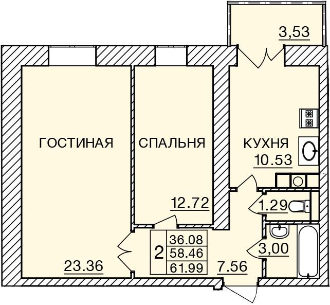 Киевское шоссе, д. 58, кв.477